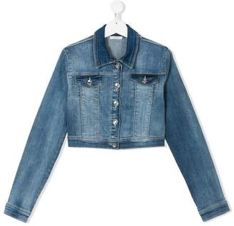 Liu Jo Kids TEEN cropped denim jacket