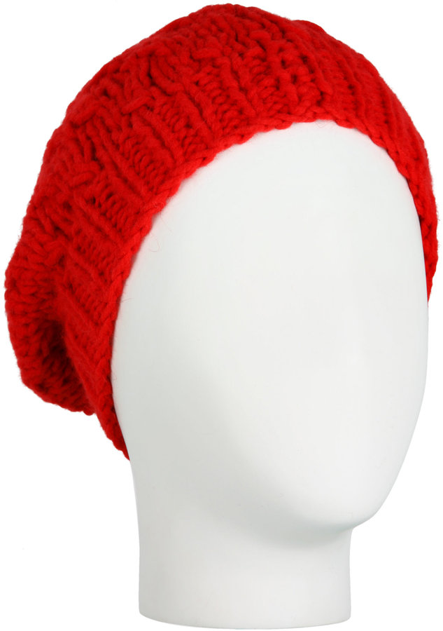 Paul Smith Red Handknitted Loose Beanie