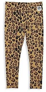 Mini Rodini Little Girl's & Girl's Leopard Print Leggings