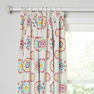 Little Home At John Lewis Sahara Pencil Pleat Pair Blackout Lined Children S Curtains