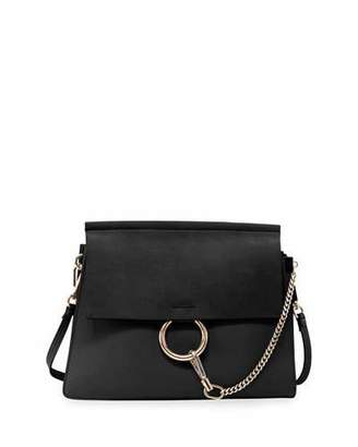 Chloé Faye Suede-Flap Shoulder Bag
