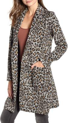 Cupcakes And Cashmere Leopard Belted Trench Coat