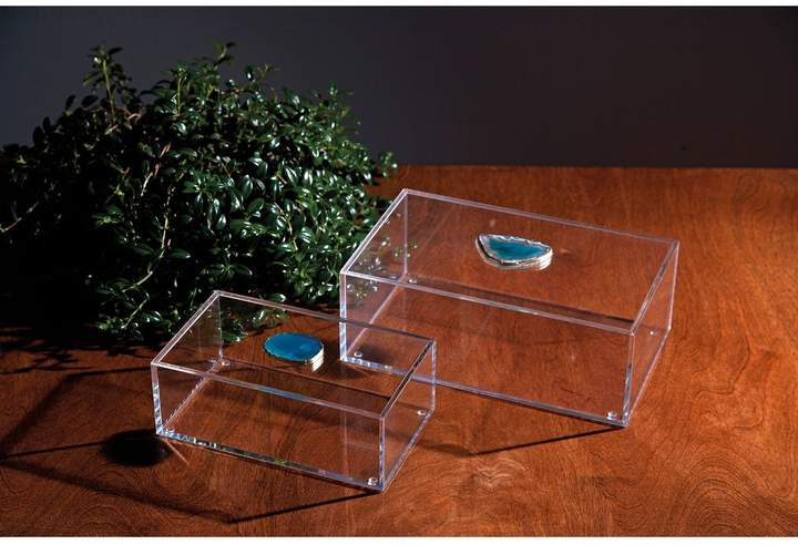 Agate Acrylic Boxes Set of 2