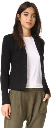 James Perse Cropped French Terry Blazer $295 thestylecure.com