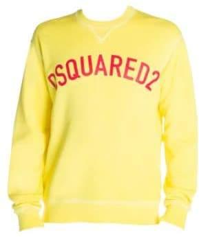 DSQUARED2 Men's Logo Sweatshirt - Yellow - Size Large