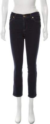 Trademark Mid-Rise Straight-Leg Jeans
