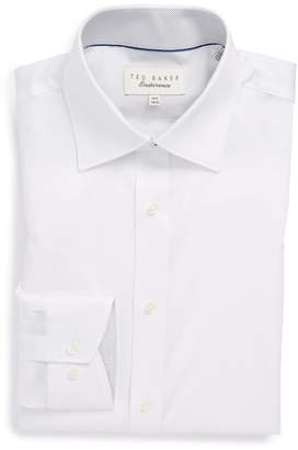 Ted Baker Oncore Trim Fit Micro Stripe Dress Shirt