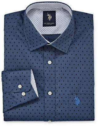 U.S. Polo Assn. USPA Dress Shirt Big And Tall Mens Spread Collar Long Sleeve Dress Shirt