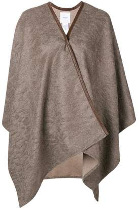 Agnona draped cardi-coat