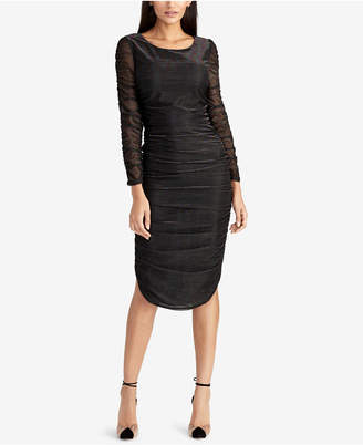 Rachel Roy Glitter Ruched Bodycon Dress