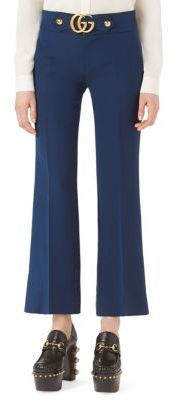 GucciGucci GG-Detail Wool & Silk Flare Pants