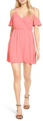 Women's Lush Surplice Cold Shoulder Dress $49 thestylecure.com