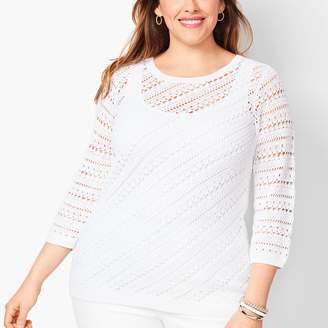 Talbots Hand-Crocheted Sweater