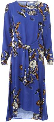 Dorothy Perkins Womens **Vila Blue Floral Midi Dress