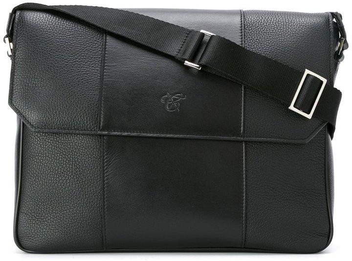 CanaliCanali embossed logo messenger bag