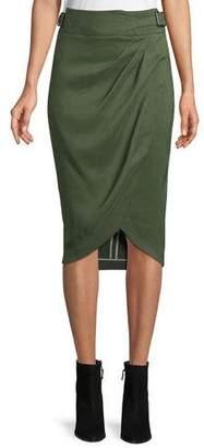 Veronica Beard Silas Linen Wrap Skirt