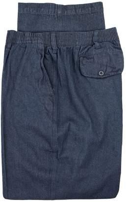 Falcon Bay Big & Tall Men's Casual Pants Full Elastic Denim 50 X 32