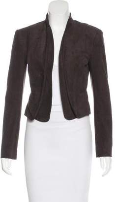 Halston Cropped Open Front Jacket