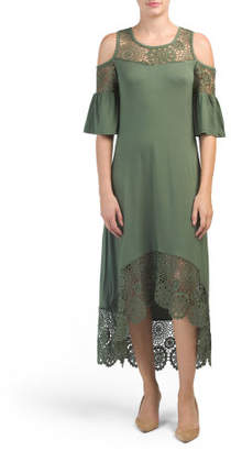 Cold Shoulder Hi-lo Maxi Dress