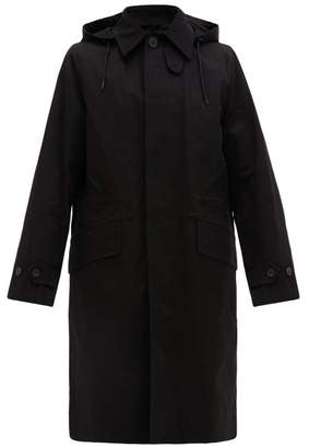 Ami Hooded Cotton Gabardine Parka - Mens - Black