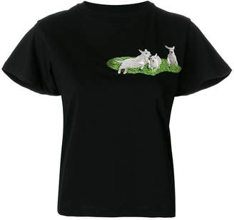Carven embroidered lamb T-shirt