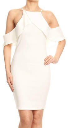 Blvd Cold Shoulder Fitted Dress