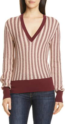 Equipment Pierette Silk & Cotton V-Neck Sweater