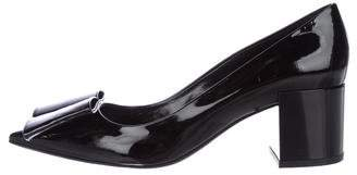 Pierre Hardy Patent Leather Bow Pumps