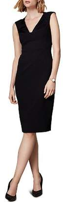 Karen Millen Sleeveless V-Neck Sheath Dress