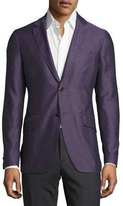 Etro Medallion Micro-Jacquard Sport Coat, Deep Purple $1,315 thestylecure.com