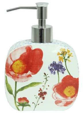 Bacova Guild, LTD Guild Blue Medallion Floral Ceramic Lotion/ Soap Dispenser