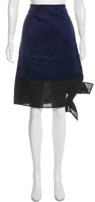 Celine Satin Wrap Skirt w/ Tags