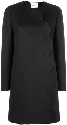 Valentino scalloped edge coat