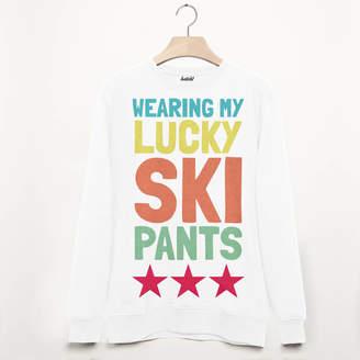 bd12f7373f Batch1 Lucky Ski Pants Retro Unisex Après Ski Sweatshirt