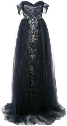 Marchesa off the shoulder gown