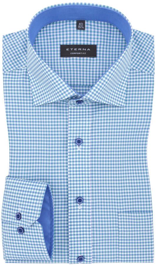 Kleinkariertes Businesshemd mit Brusttasche