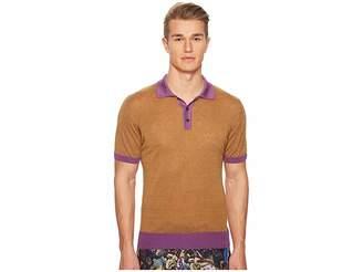 Etro Color Blocked Polo Men's Short Sleeve Knit
