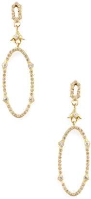 Armenta Women's Sueno 18K Yellow Gold & 0.53 Total Ct. Diamond Open Oval Drop Earrings