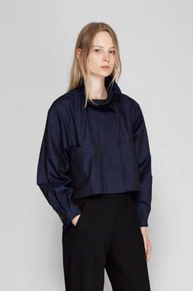 Ellery Type A Ruffle Collar Shirt