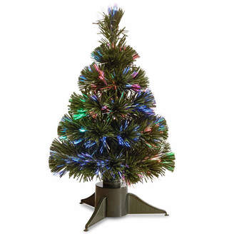 NATIONAL TREE CO National Tree Co. Fiber Optic Ice Pre-Lit Christmas Tree