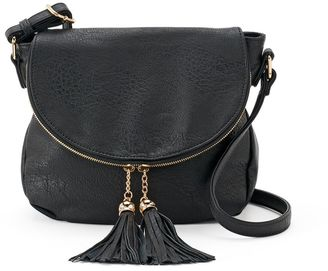 Deluxity Tassel Flap Crossbody Bag $59 thestylecure.com