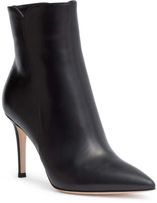 Gianvito Rossi Levy 85 black leather booties