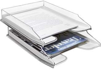 Sorbus Acrylic Desk Organizer, Stackable, Desktop File, Folder, Magazine Holder, File Holder Tray Set