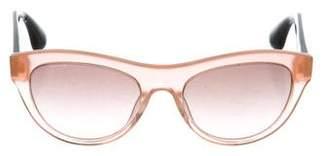 Miu Miu Glitter Cat-Eye Sunglasses