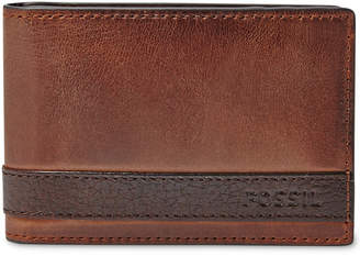 Fossil Men Leather Quinn Money Clip Bifold Wallet