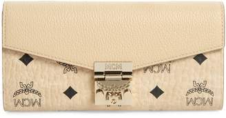 MCM Patricia Visetos Leather Wallet on a Chain