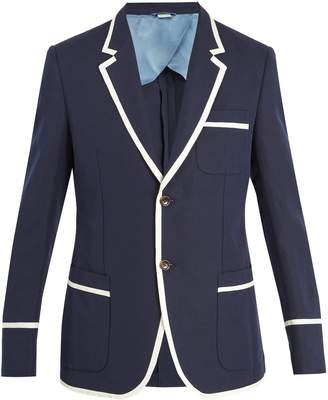Gucci Contrast-trim cotton-blend jacket