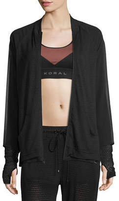 Koral Activewear Veneer Dual Zip-Up Jacket
