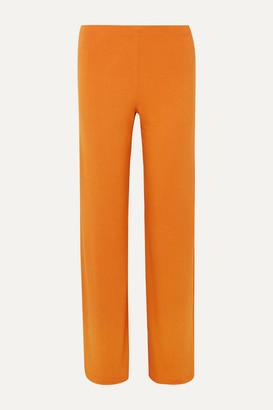 LESET - French Terry Wide-leg Pants - Orange