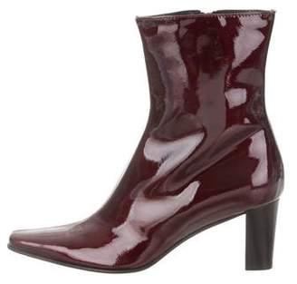 Aquatalia Patent Leather Pointed-Toe Boots